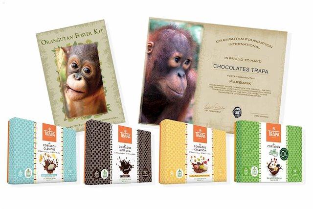 50 apadrinamientos de orangutanes desde la chocolatera española Trapa, pionera en el bombón