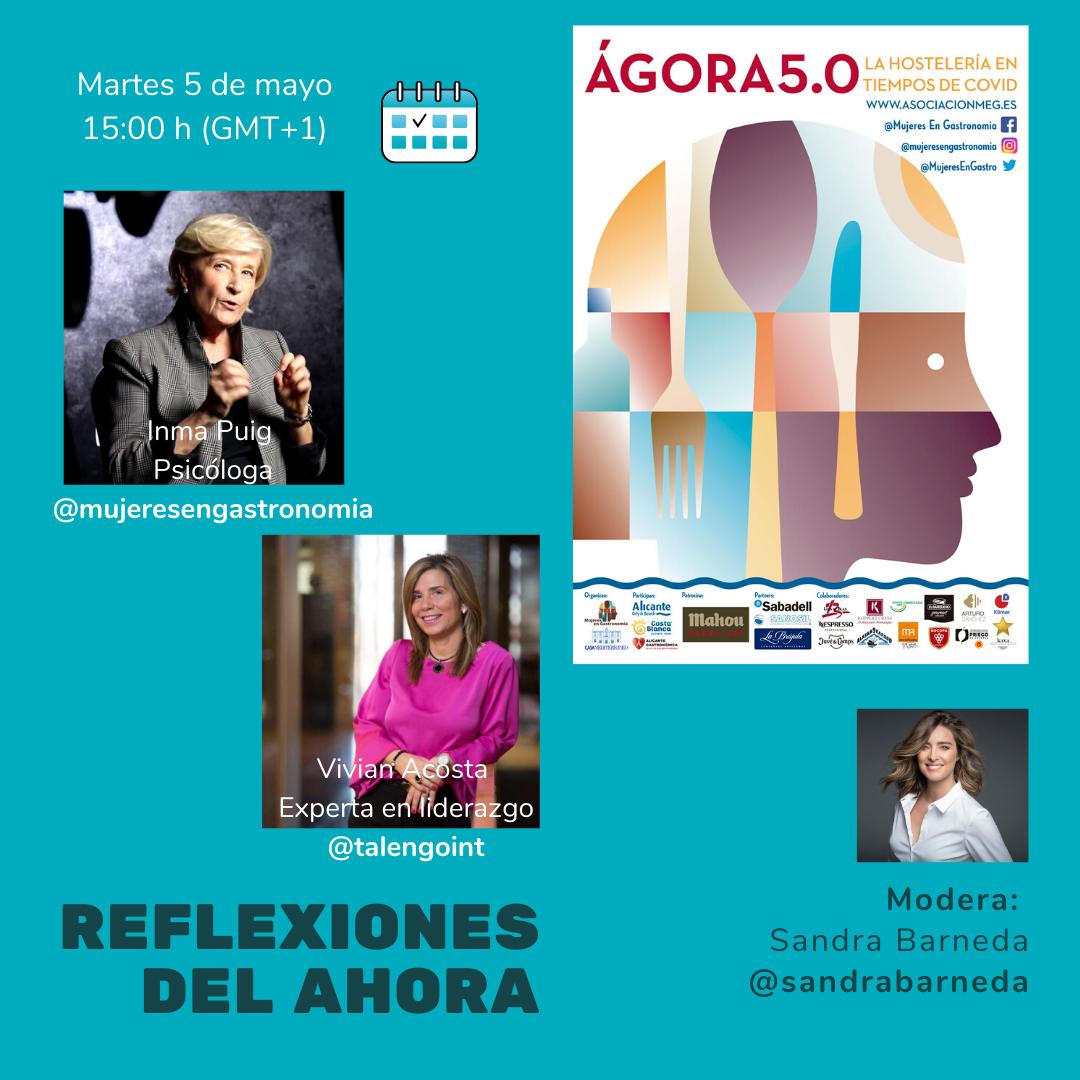 Mujeres en Gastronomía (MEG) junto a la Hostelería con Ágora 5.0 en Instagram