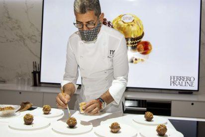 Paco Roncero realiza su interpretación de las especialidades Ferrero para celebrar el retorno de la marca tras el verano