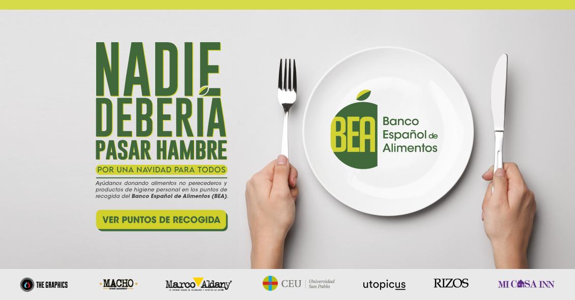 El Banco Español de Alimentos (BEA) surge para llevar comida a todas las casas que lo necesiten