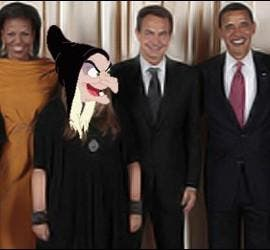 Niña monster con Obama