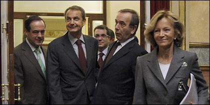 Bono, Zapatero, Alonso y Elena Salgado.