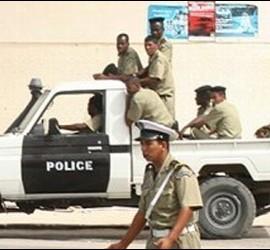 Patrulla de la Policía en Mauritania.