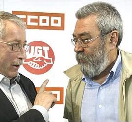 Ignacio Fernández Toxo y Cándido Méndez.