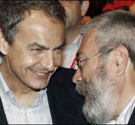 Zapatero y Cándido Méndez.