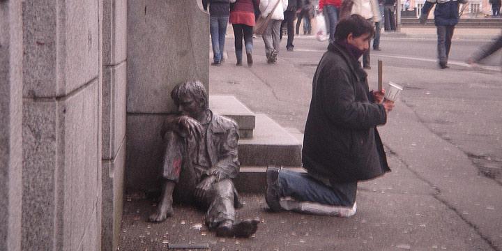 Mendigo en Madrid. Crédito: periodistadigital.com
