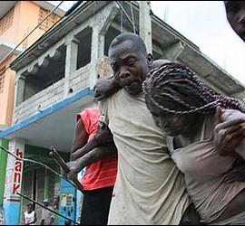 Víctimas del terremoto de Haití.