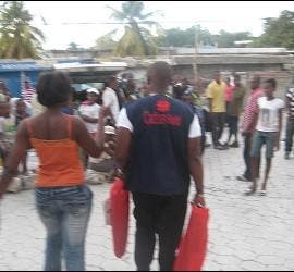 Cáritas Haití, sobre el terreno