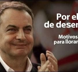 Montaje de un cartel electoral del PSOE.