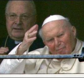 Juan Pablo II y el cardenal Sodano