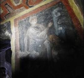 Imagen de San Pedro, en las catacumbas de Santa Tecla