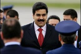 <p>El canciller de Venezuela, Nicolás Maduro, llega este sábado al aeropuerto militar de CATAM, en Bogotá (Colombia). EFE</p>