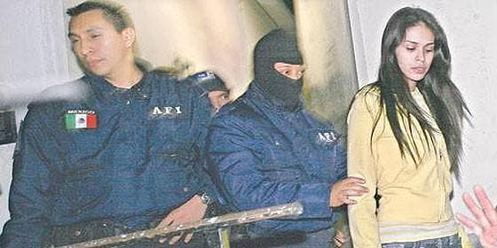Laura Zúñiga Huízar, Miss Sinaloa, detenida por la policía mexicana.
