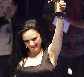 La cantante Alaska, integrante del grupo Fangoria.