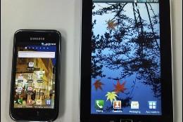 Samsung Galaxy S y Samsung Galaxy Tab.
