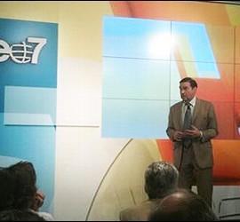 Pedrojota en la presentación de VEO7.