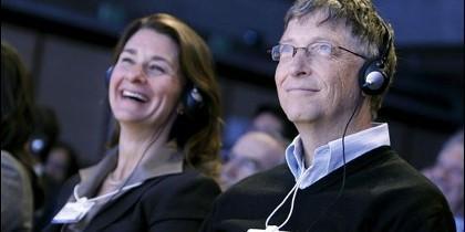 El fundador de Microsoft, Bill Gates y su esposa, Melinda Gates.