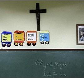 Crucifijo en una escuela