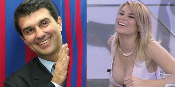 Estrella porno promociona reelección de Laporta(BARZA)
