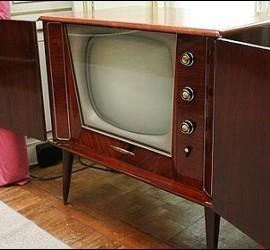 El televisor de Franco en el Palacio del Pardo.