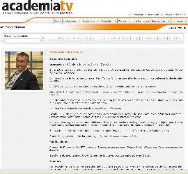 El curriculo de Melchor Miralles, en la Web de la Academia de las Ciencias y las Artes de Televisión, tal como aparecía el 19-12-2010.