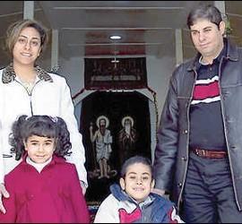 Una familia copta en Cerveza (Cataluña)