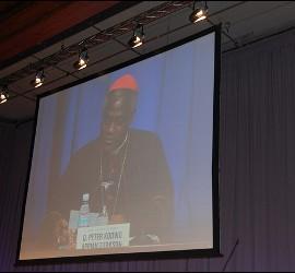 Cardenal Turkson en el Congreso de la Biblia de la CEE