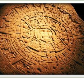 Calendario maya de piedra.
