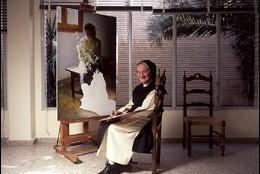 Sor Isabel Guerra, pintando