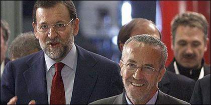 Mariano Rajoy con Pedro Arriola.