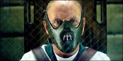Anthony Hopkins como 'Hannibal Lecter' en 'El silencio de los corderos'.