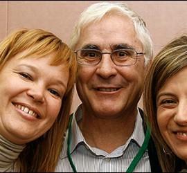 Leire Pajín, José María B. y Bibiana Aído
