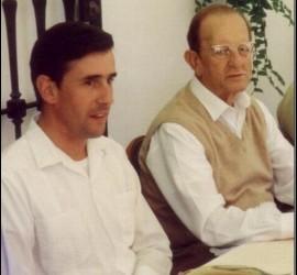 Santiago Oriol, junto a Maciel