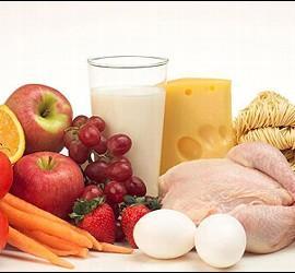 Comida sana y alimentos frescos.