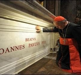La tumba nueva del beato Juan Pablo II