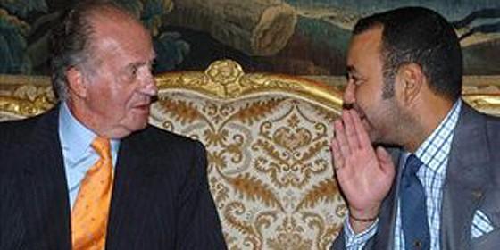 El rey de España, Juan Carlos I, y el de Marruecos, Mohamed VI.