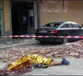 Fallecido entre los escombros en Lorca.