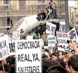 Protesta de 'Democracia Real Ya'.