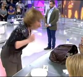 Pelea entre Mila Ximénez y Carmele Marchante. Captura de vídeo de T5.
