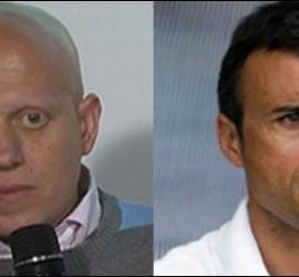 Marcos López y Luis Enrique.