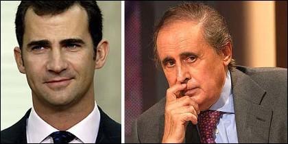 El príncipe Felipe y Jaime Peñafiel.