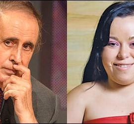 Jaime Peñafiel y la reportera de 'Sálvame' Chiqui.