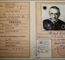 Carnet de identidad de Juan Pablo I