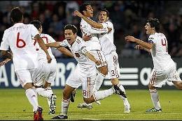 La selección española de fútbol Sub 21.