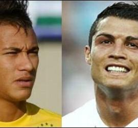 Neymar y Cristiano Ronaldo.