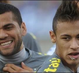 Dani Alves y Neymar.