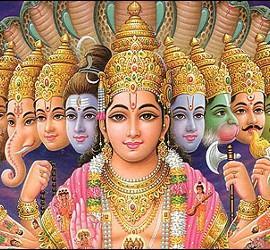 El dios hindú Vishnú.