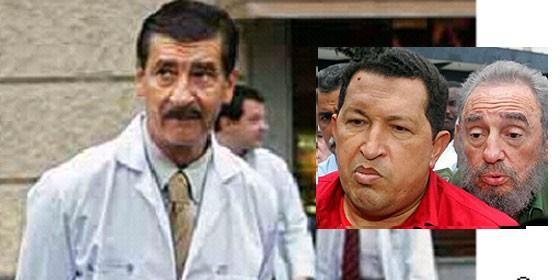 El doctor García Sabrido, Fidel Castro y Hugo Chávez.