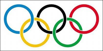Los aros de los Juegos Olímpicos.