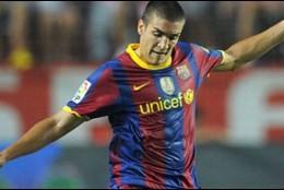 Oriol Romeu, con el Barça B.